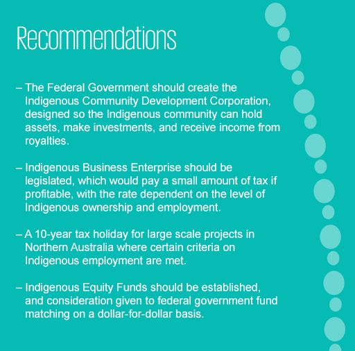 Recommendations on tax reform to boost the Indigenous economy
