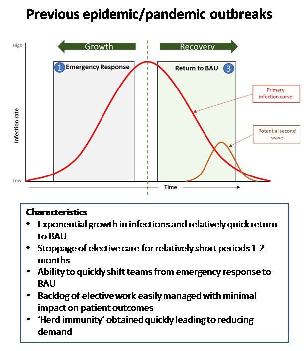 Normal infection curve