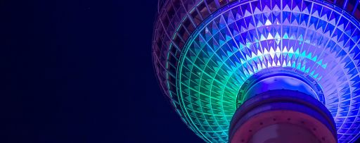 KPMG's Global IFRS Institute | Low angle view of an illuminated globe-shaped structure