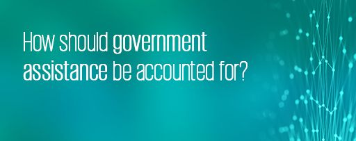 How should government assistance be accounted for?