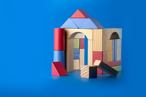 Building constructed from building blocks