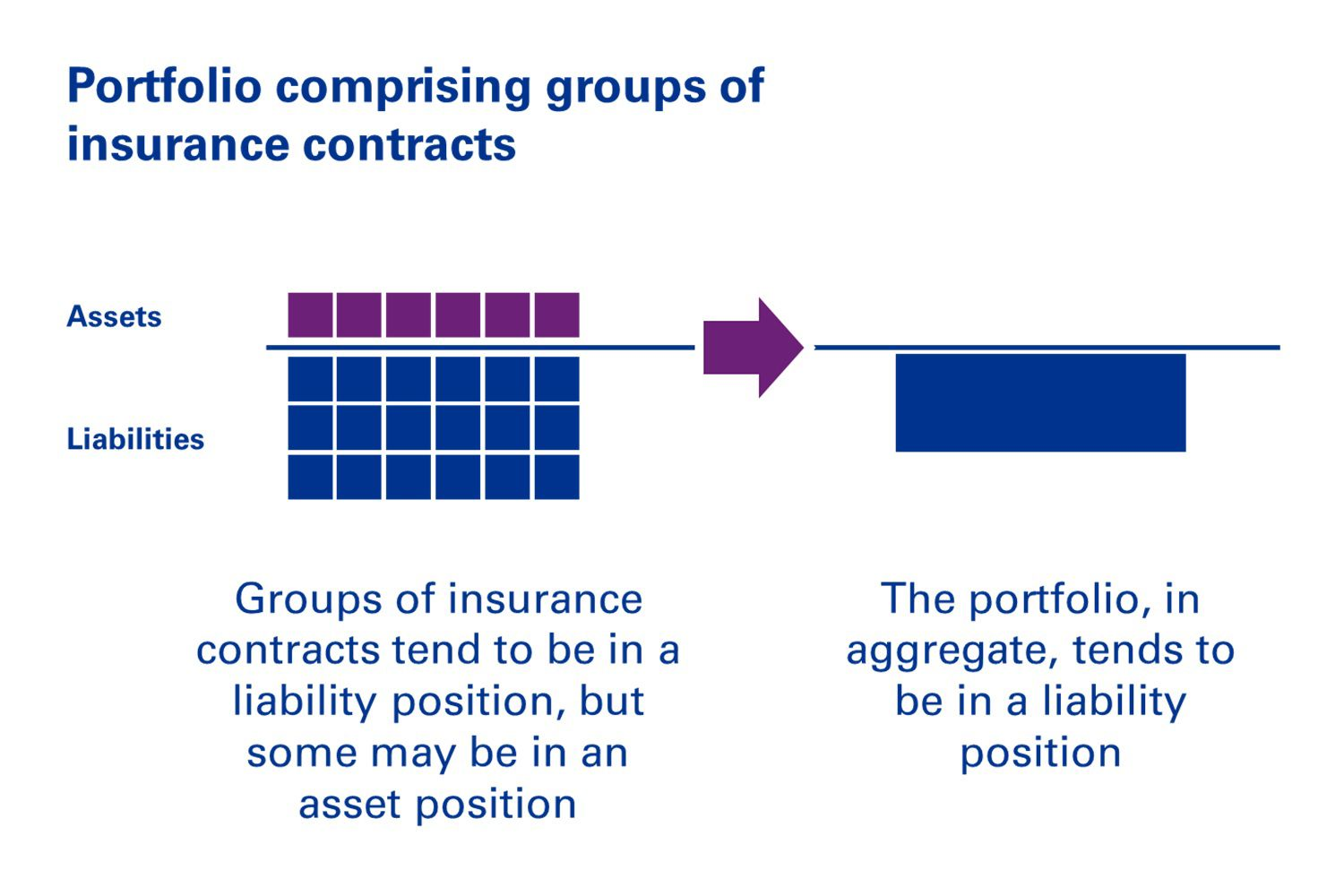 Diagram: Portfolio comprising groups of insurance contracts under IFRS 17