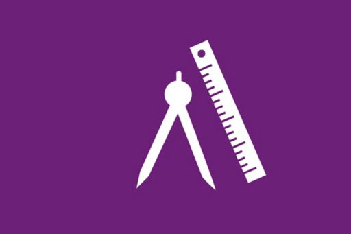 Ruler, pencil and set square