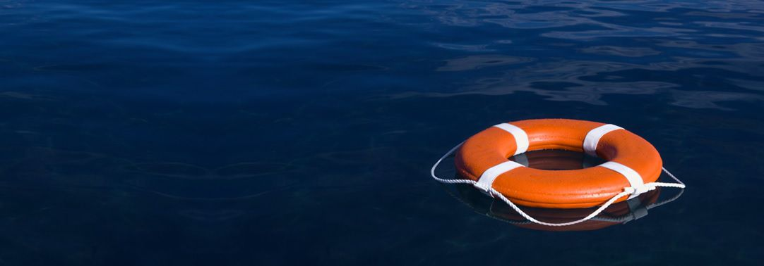 Financial Instruments   Life preserver ring in the water