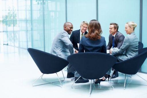 Business people discussing something