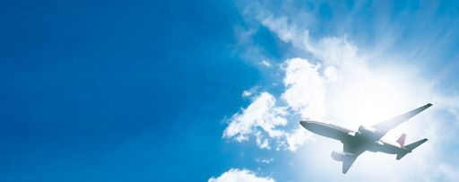 Airplane and clouds