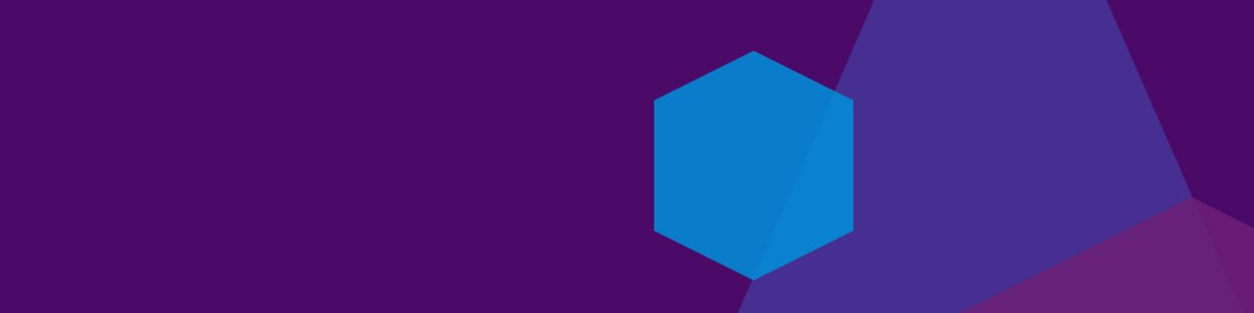 geometric shapes in purple and blue
