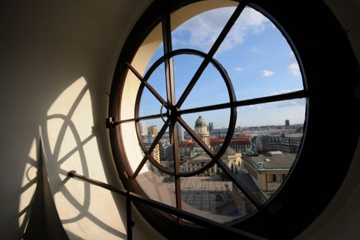 view through Porthole to German Cathedral