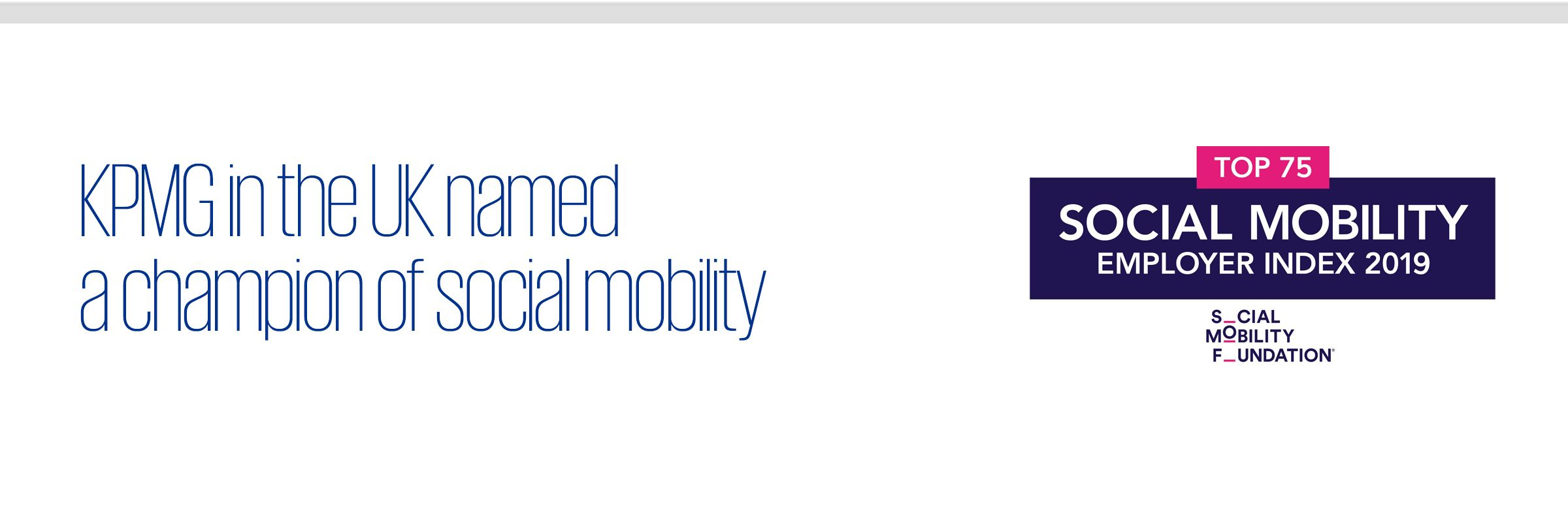 KPMG in the UK named a champion of social mobility