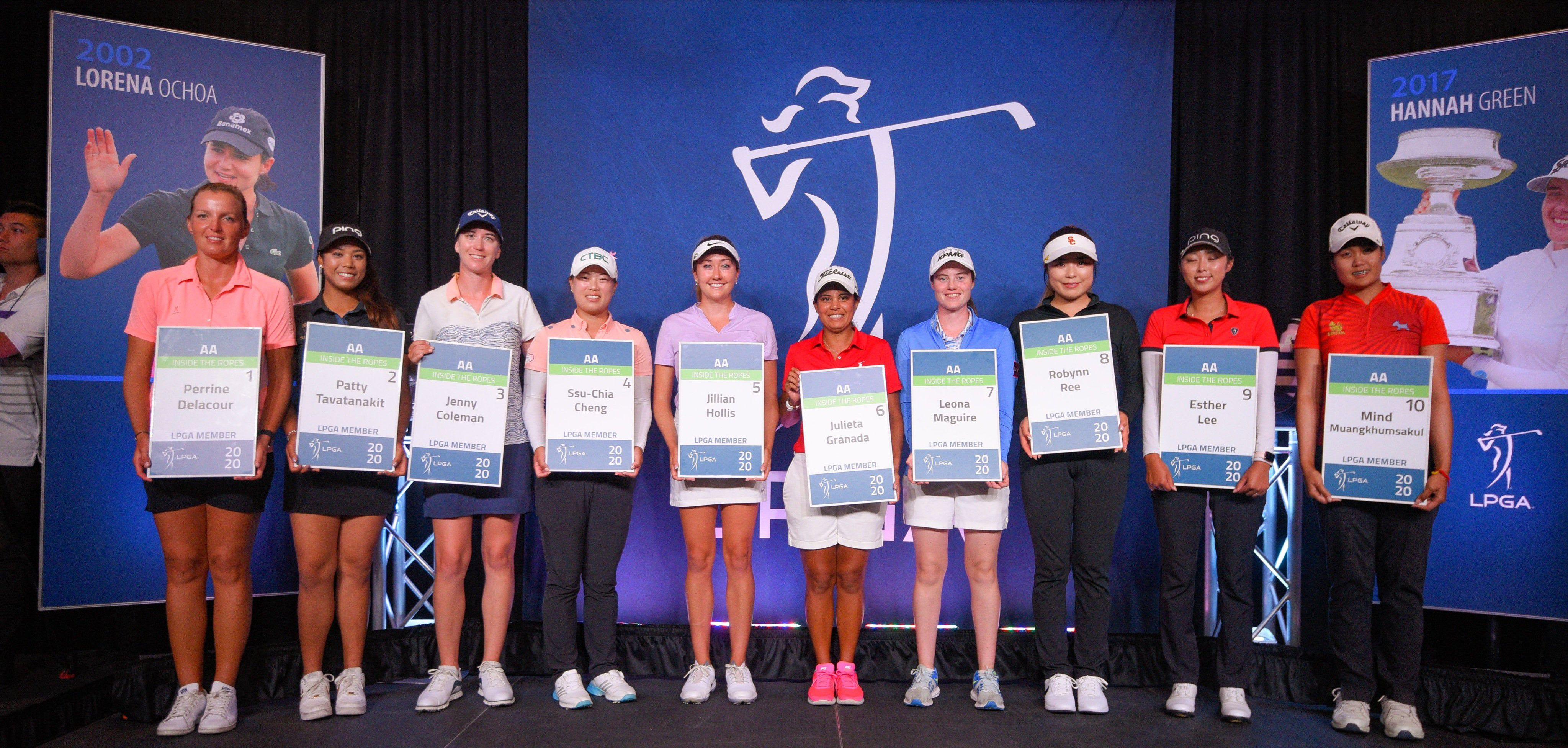 Leona Maguire and the Symetra Tour Top-10 qualifying class of 2019 (Photo: Symetra Tour)