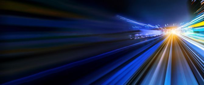 road-with-blue-and-yellow-lights