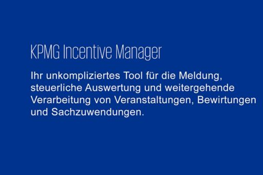 KPMG Incentive Manager