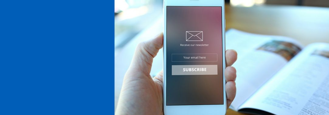 Sign up to our newsletters