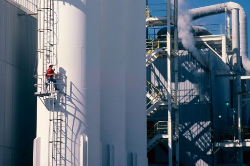 Man working in a chemical plant
