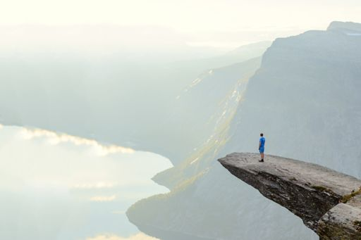 A lasting legacy - Man standing on cliff edge