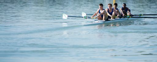 men rowing boat