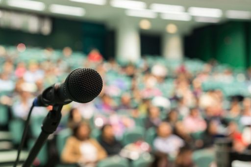 Microphone with audience