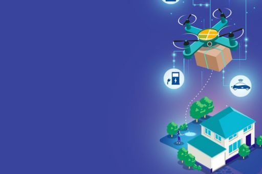 Chapter 5: The emerging mobility ecosystem - illustration of icons around a house