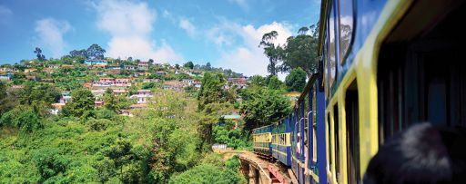 Moving train on hills