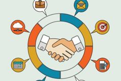shaking hands illustration