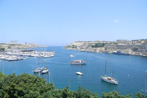 View from KPMG in Malta