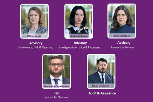 KPMG in Romania expands  with five new directors in  Audit, Tax & Legal, and Advisory