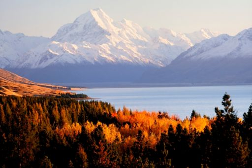 Snow capped mountains New Zealand