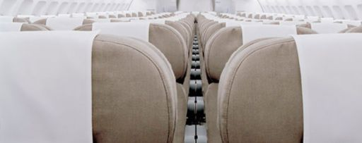 Open seats in an airplane