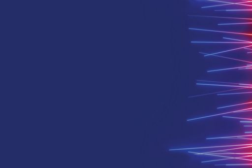optic fibers pink and blue overlay blue background