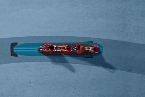 People in a luge