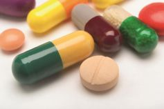 Close-up of prescription drugs
