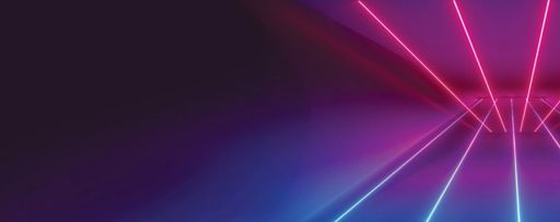 Pink and white straight lines against dark blue background
