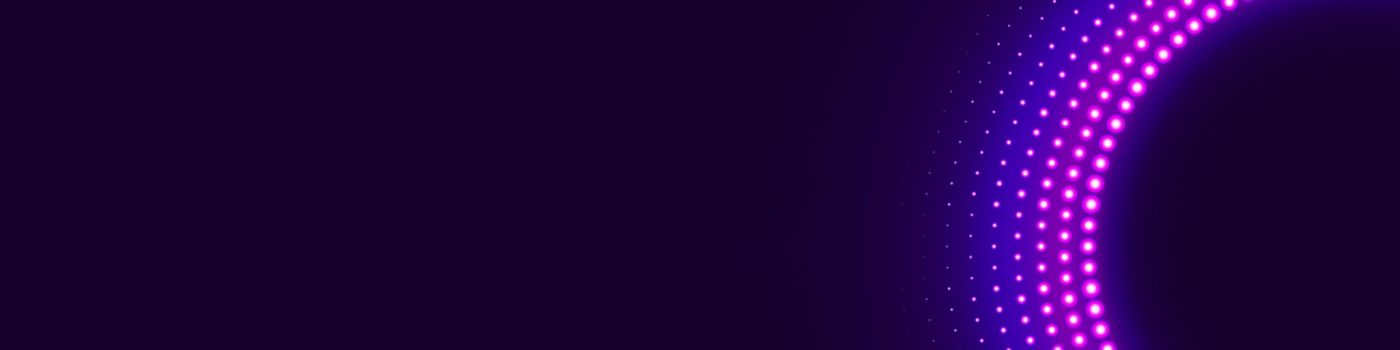 Pink lights in a circle against dark purple background