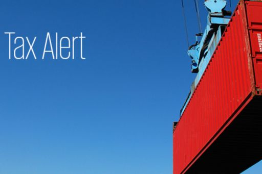 "Container next to ""Tax Alert"" header"