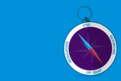 Prepared - compass illustration on light background