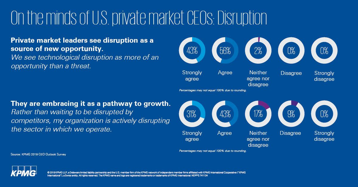 On the minds of private market CEOs: Disruption