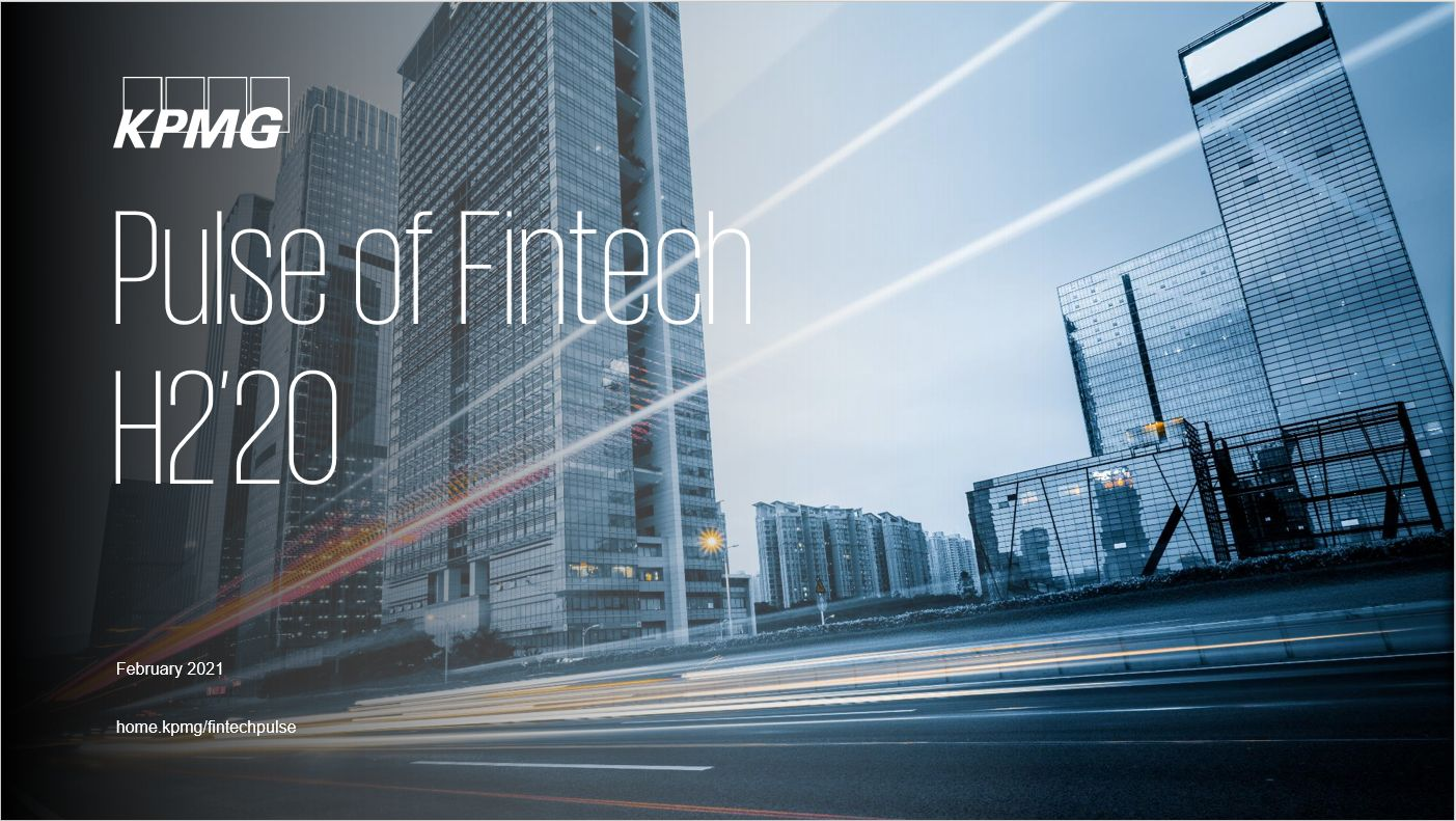 Pulse of Fintech H2'20, PDF cover