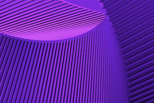 lined purple abstract shape