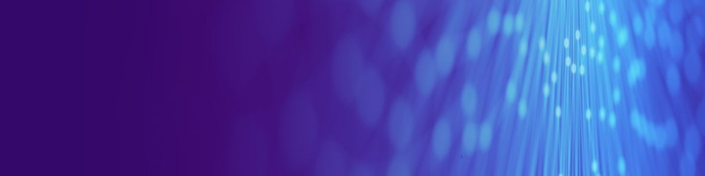 Purple voilet overlay with dots banner