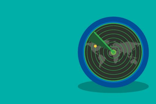 Radar Illustration on green background