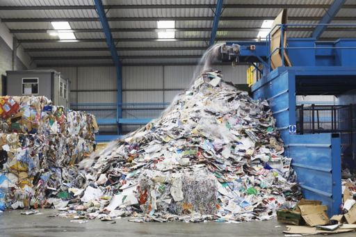 Recycled waste collection yard