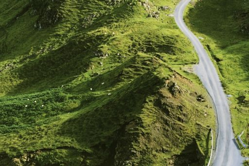 Road through the hills