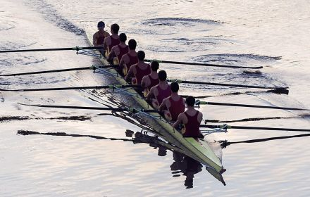 Rowers on water