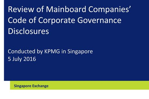 Review of corporate governance disclosures in Singapore