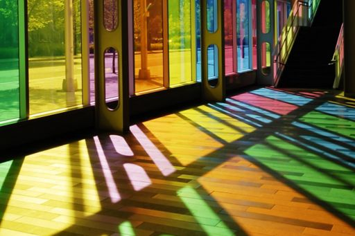 colorful stain glass windows