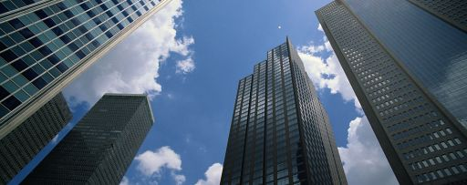 skyscrapers in the clouds