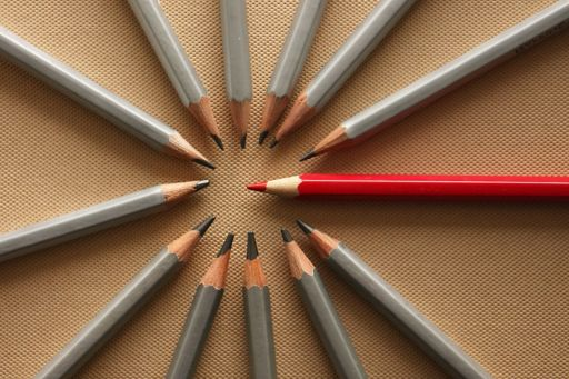 Pencil arranged in circle
