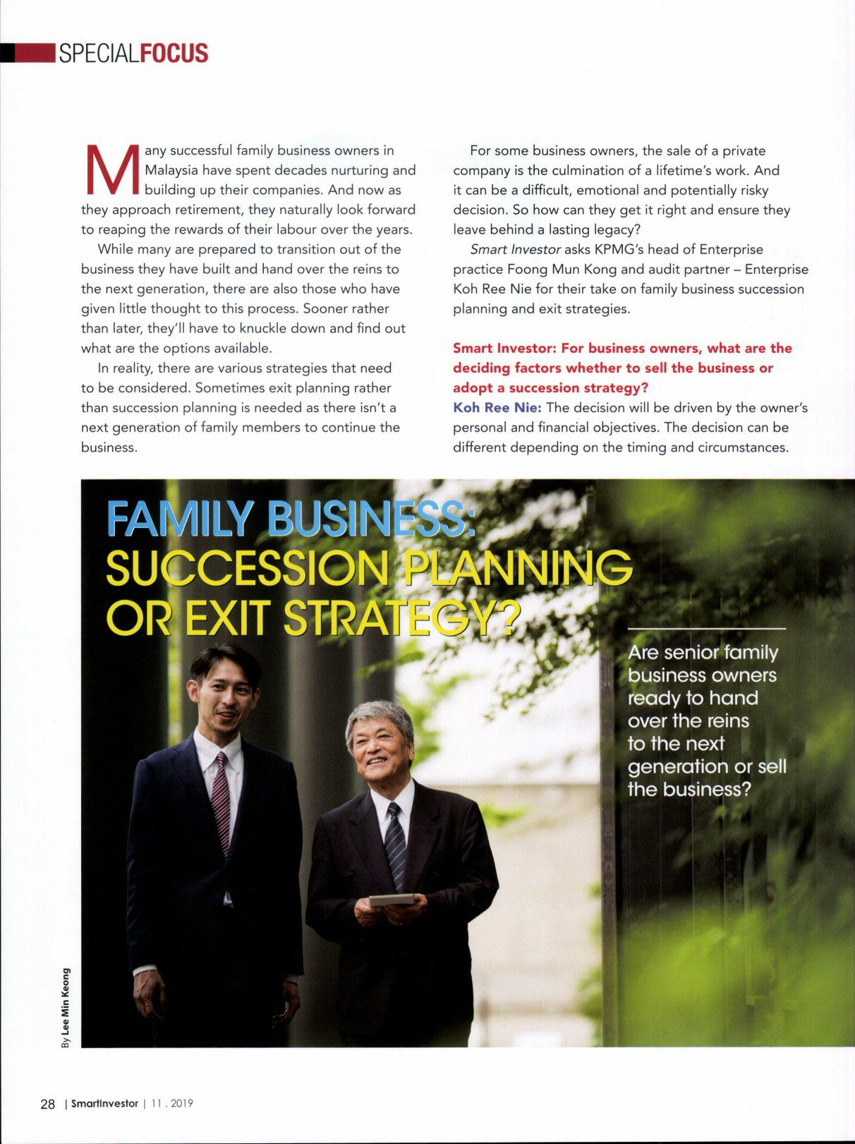 Family Business Succession Planning or Exit Strategy