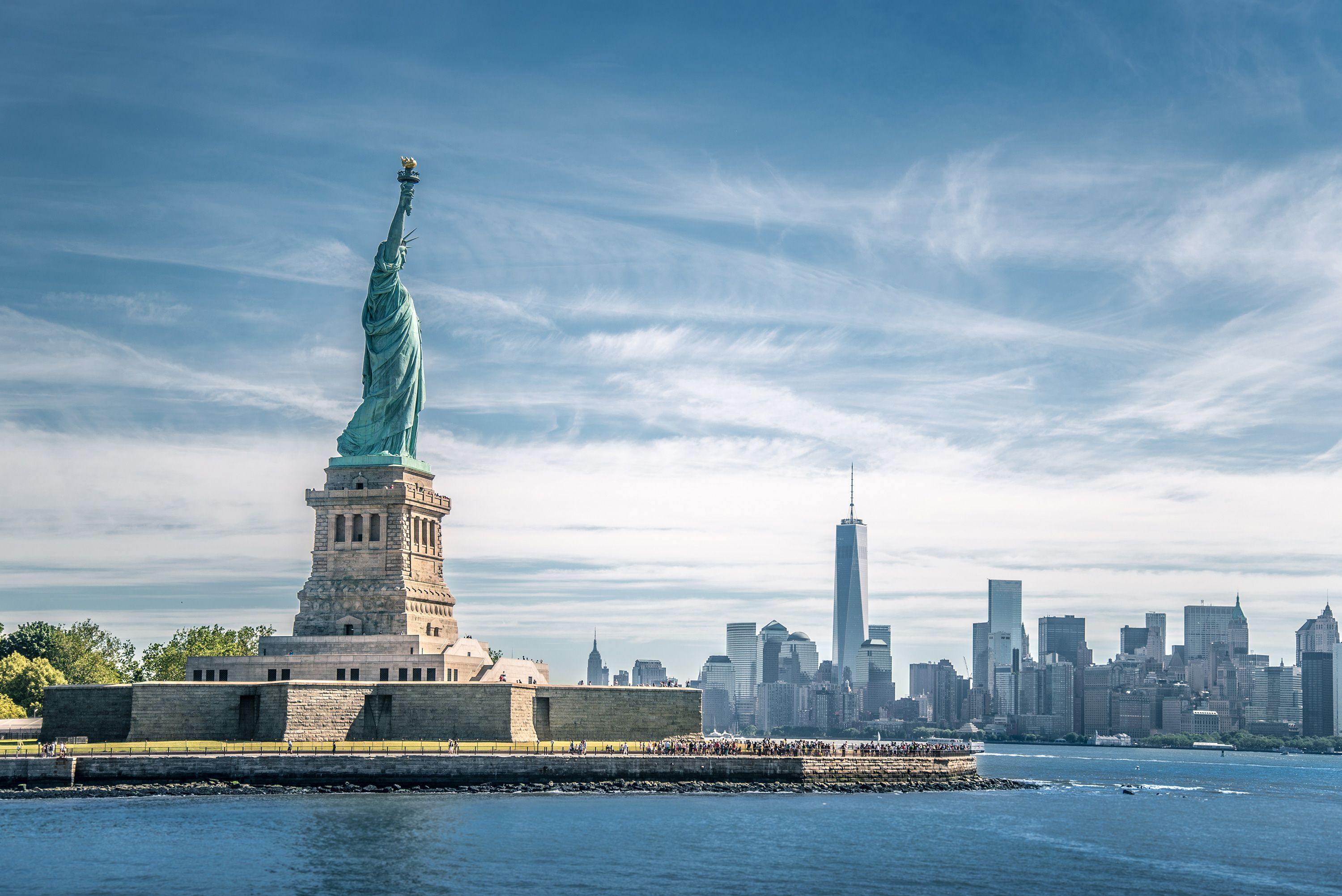 Statue of Liberty front view United States