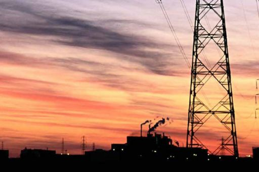sunset and wire